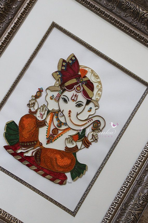 handmade craft ideas paper quilling made to order handmade paper quilling ganesha by 6686