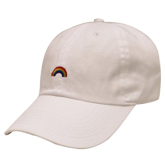 5583bda954a3a Capsule Design Rainbow Cotton Baseball Dad Cap FABRIC   COTTON BLEND ...