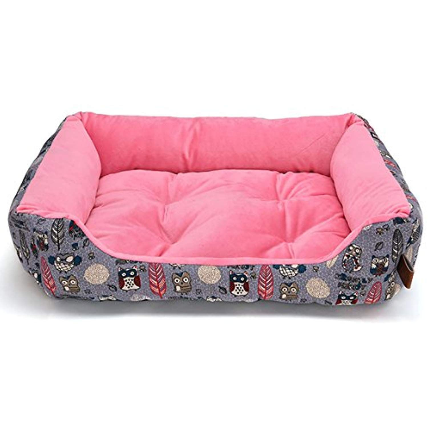 Uheng Deluxe Bolster Pet Bed for Dogs cats Dog bed