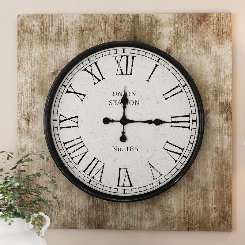 Violet Square Wood 20 Wall Clock Clock Wall Clock Wood Wall Clock