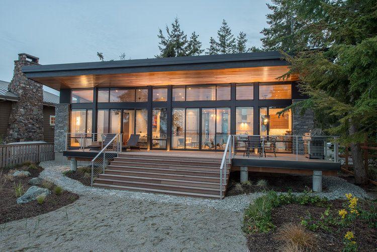 Rumah 1 Lantai Ala Cabin In The Woods Arsitektur Desain Eksterior Rumah Arsitektur Rumah