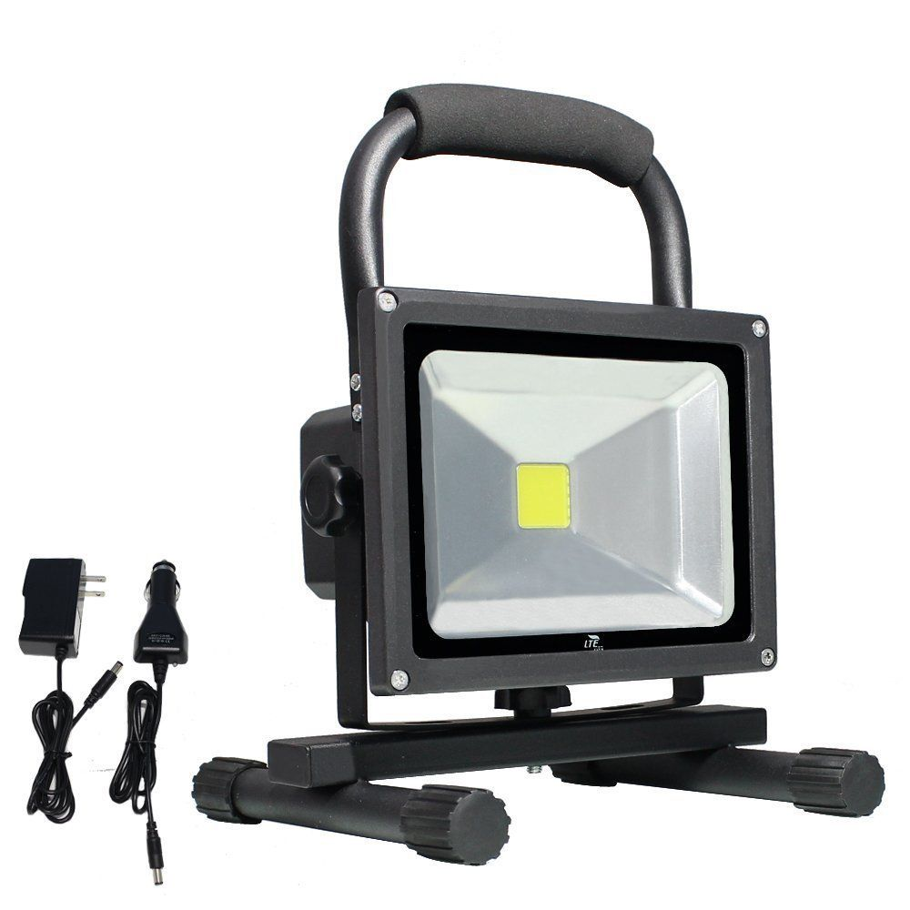 Lte 20w cordless portable rechargeable outdoor led work light 100w lte 20w cordless portable rechargeable outdoor led work light 100w halogen bulb equivalent 1500 lumen waterproof ip65 for camping outdoor recreation aloadofball Image collections