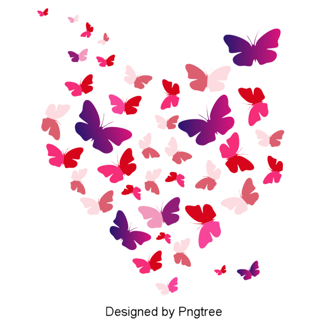 Beautiful Cartoon Cute Hand Painted Flat Floating Color Butterfly Wings Png And Clipart Cartoon Butterfly Butterfly Clip Art Butterfly Graphic