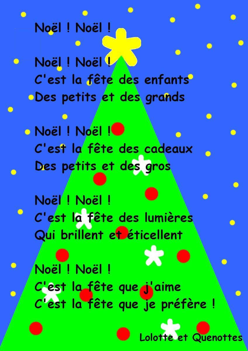 comptine : Noël ! Noël ! #activitemanuellenoelmaternelle