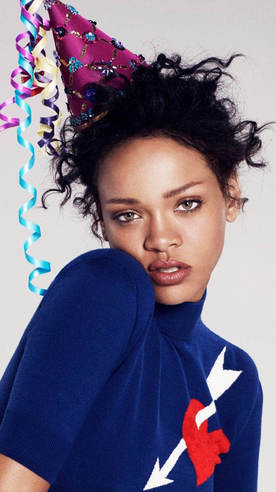 Rihanna Party Hat 4k Ultra Hd Mobile Wallpaper Rihanna Rihanna Photoshoot Rihanna Diamonds