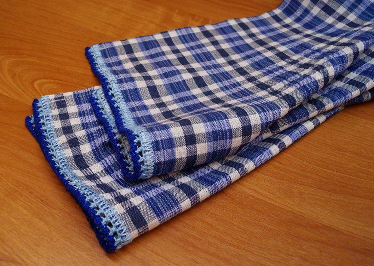 Linen Cotton Towels Handmade knitted laceLinen от DiamondWoodMaks