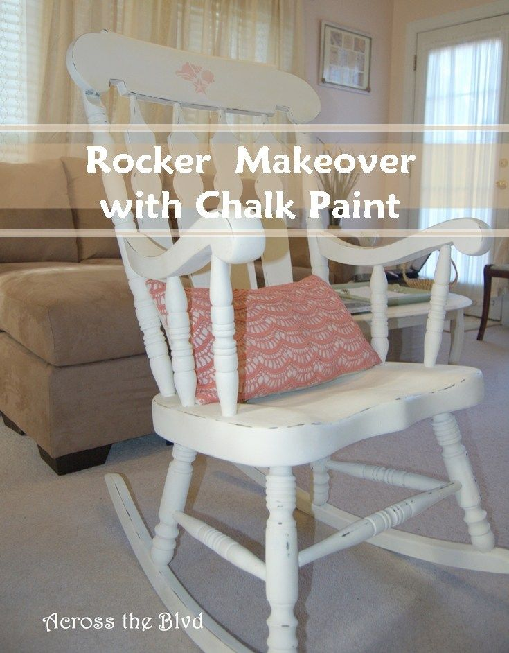 Astounding Rocking Chair Makeover With Chalk Paint Diy Painting Spiritservingveterans Wood Chair Design Ideas Spiritservingveteransorg