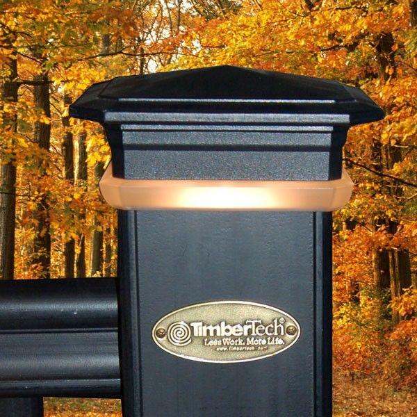 Timbertech Decklites Post Cap Light Module Cool Deck