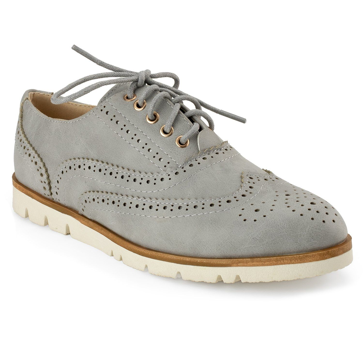 a82b26a2302d2 Amazon.com | RF ROOM OF FASHION Women's Wing Tip Saddle Lace up ...