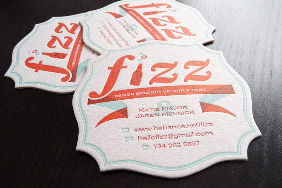 Fizz Business Card Coasters by Jason Melnick and Katie Major ...