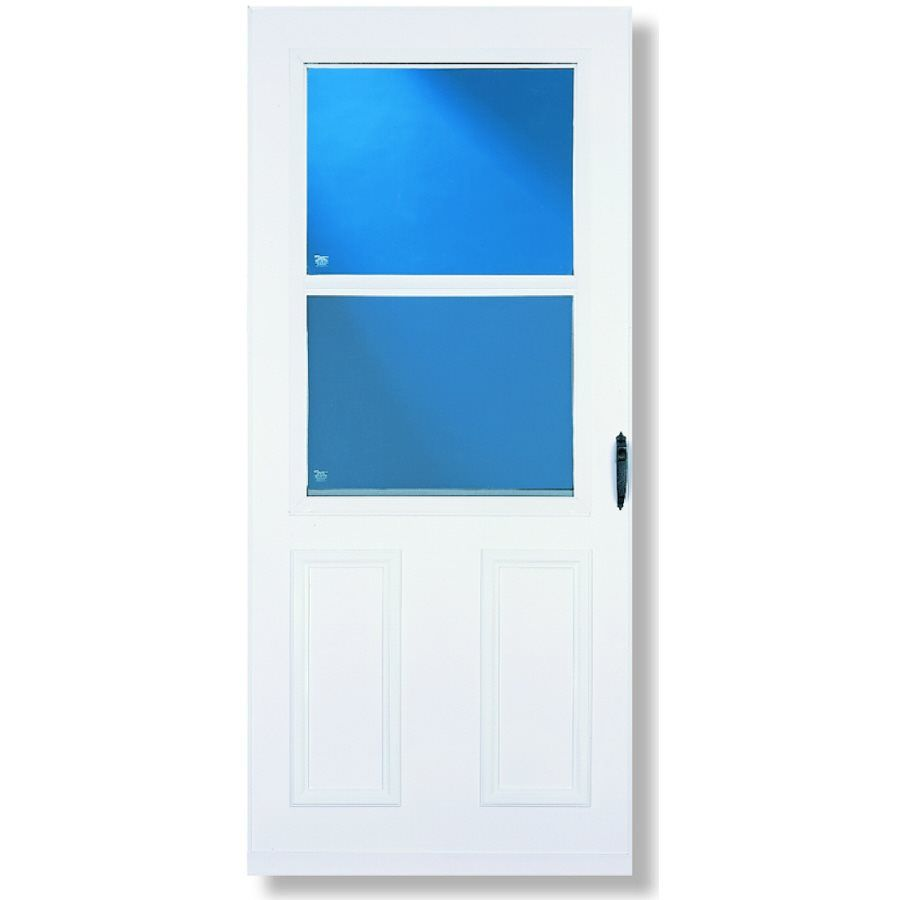 Larson 029331u Villager White High View Tempered Glass Standard Half