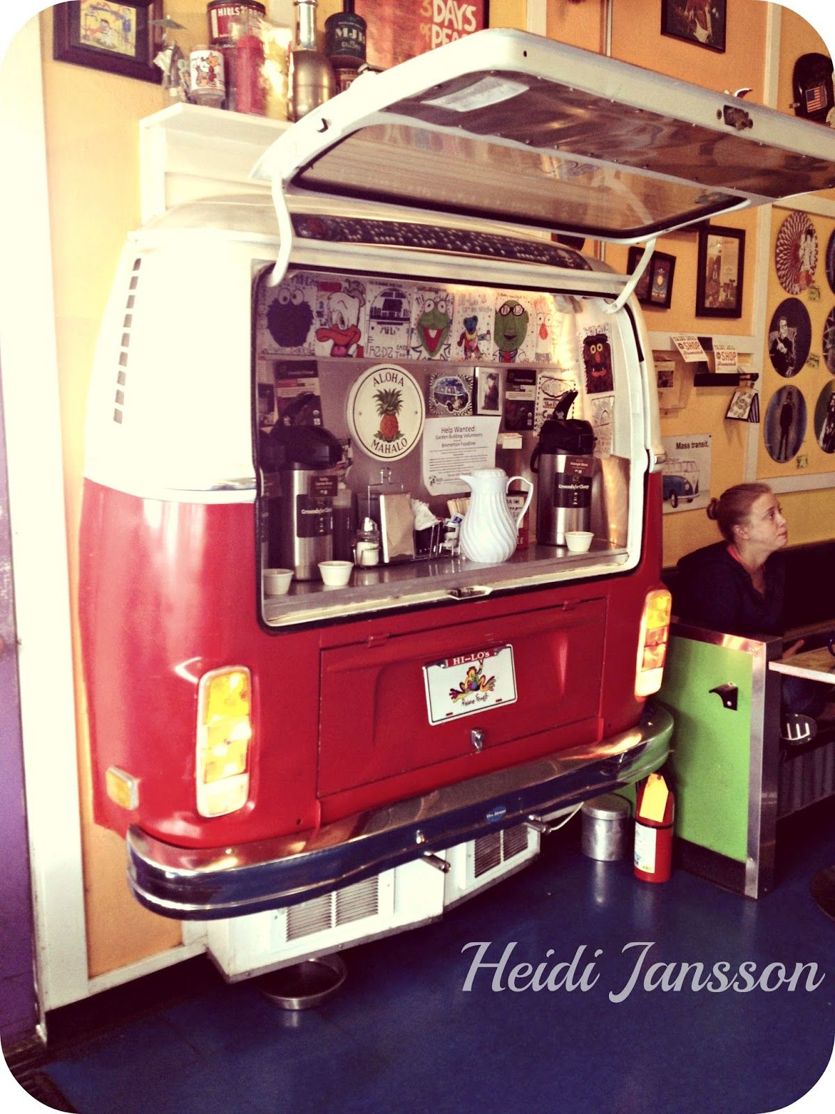 vw bus coffee corner vw kombi pinterest coffee. Black Bedroom Furniture Sets. Home Design Ideas