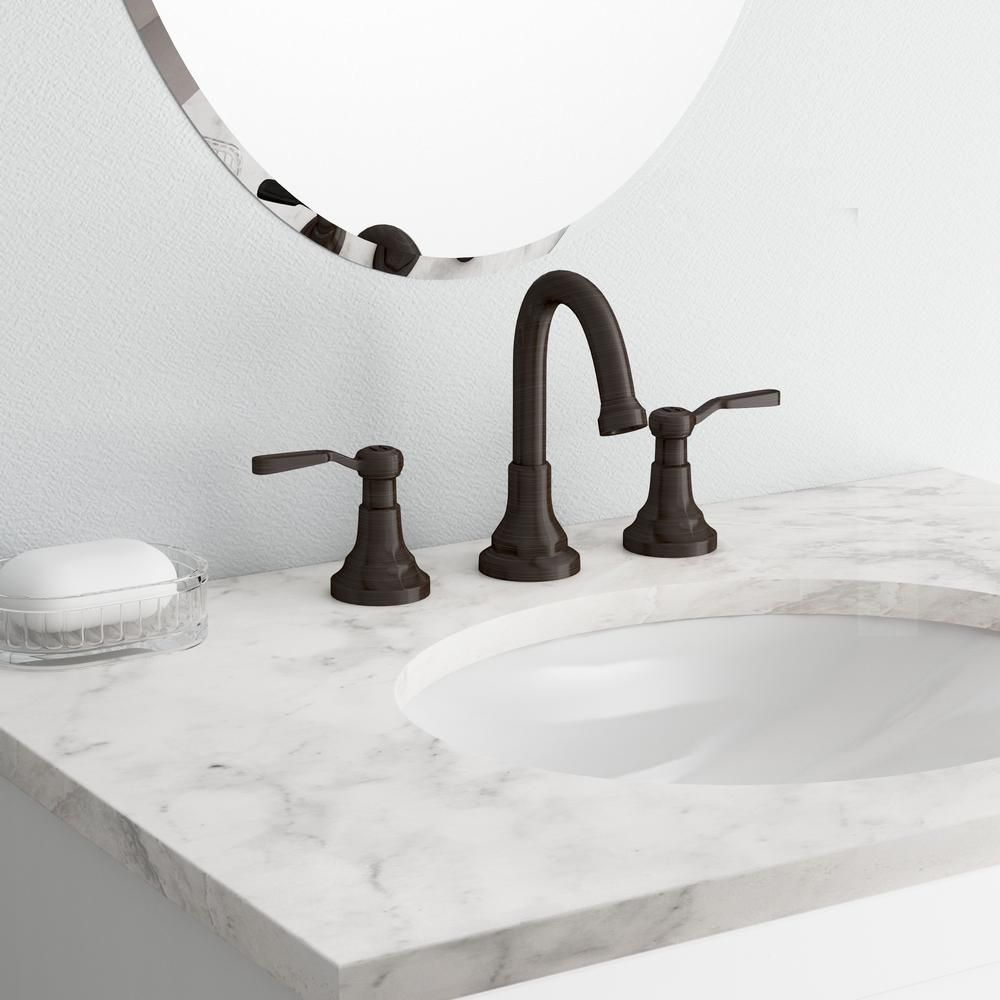 KOHLER Worth 8 in. 2-Handle Widespread Bathroom Faucet in Oil-Rubbed ...