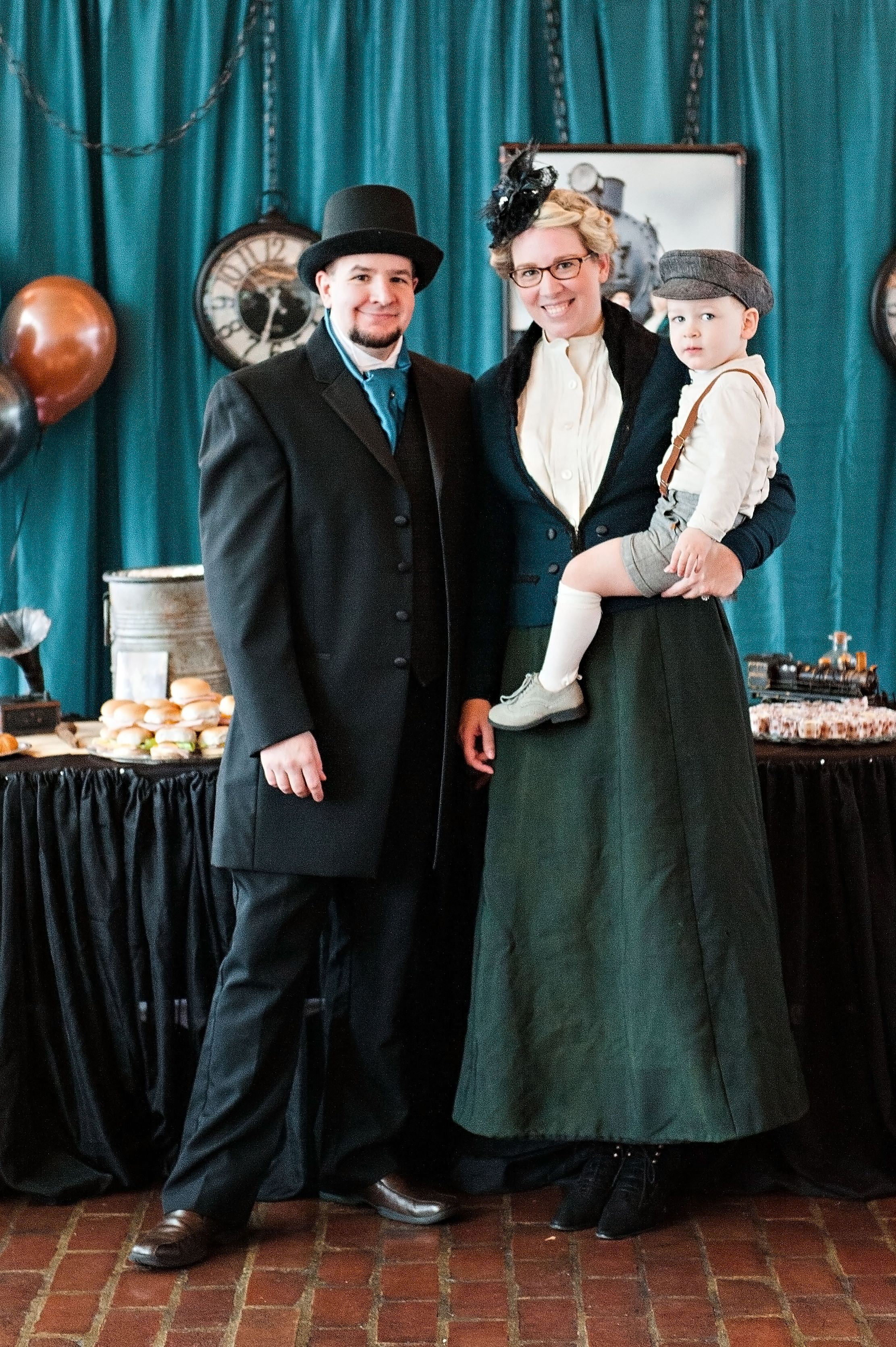 Victorian family outfits! My walking skirt and blouse was original 1900's.