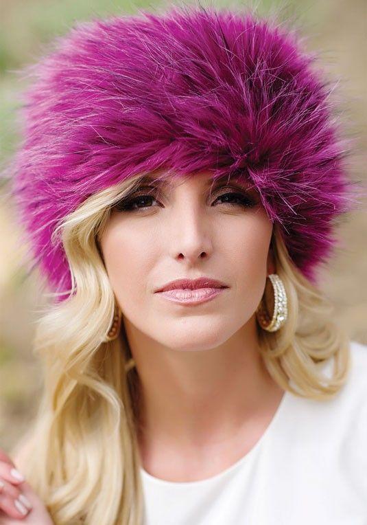 a16d1fbf68a64 2013 Premium Sable Faux Fur Hat for girls . Magenta Fox Faux Fur Russian Hat   fur  hat  girls www.loveitsomuch.com