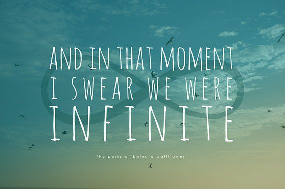 Word Art Print Infinite Perks Of Being A Wallflower Quote