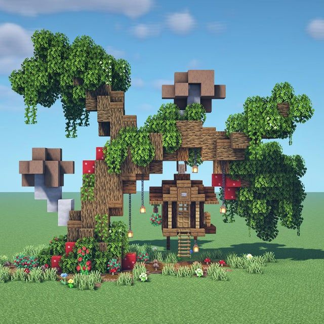 I built a wonky treehouse