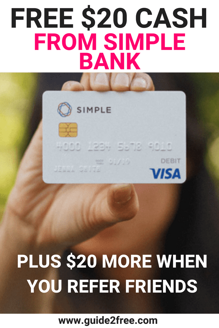 FREE Simple VISA Debit Card + FREE 20 Cash Bonus Top