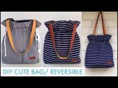 Photo of DIY REVERSIBLE Einkaufstasche / DIY TASCHE / Kordelzug Tasche Herstellung / Bolsa DIY / Bolsa de Bri …