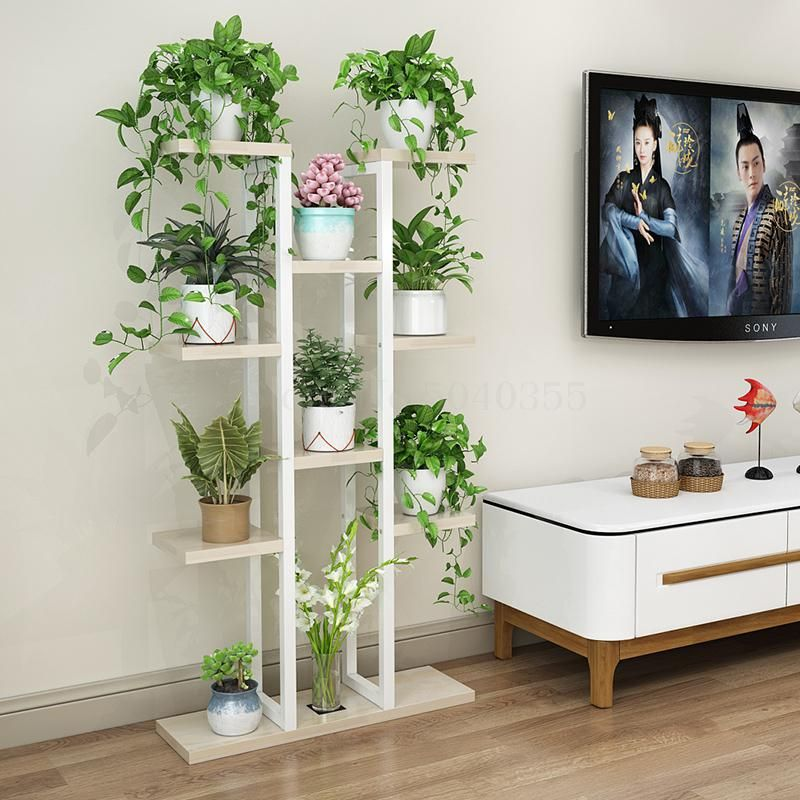 Flower Shelf Home Multi Storey Indoor Space Wrought Iron Flower Stand Multi Layer Living Room Balcony Flower P Balcony Flowers Flower Stands Plant Stand Indoor Decorative pots for living room