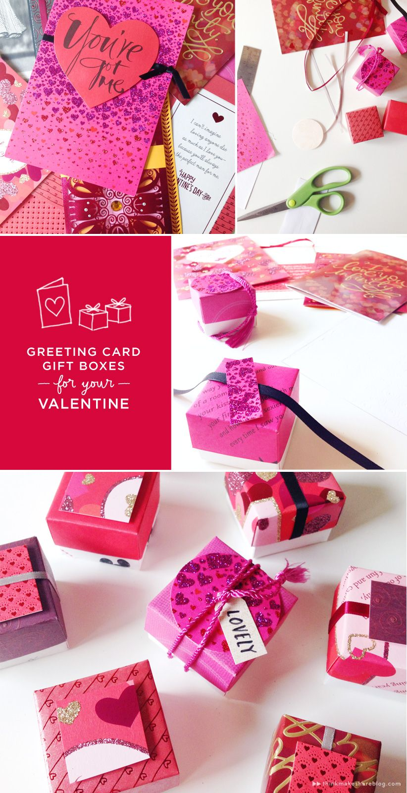 Make Valentines Day Treat Boxes Out Of Recycled Greeting Cards Be