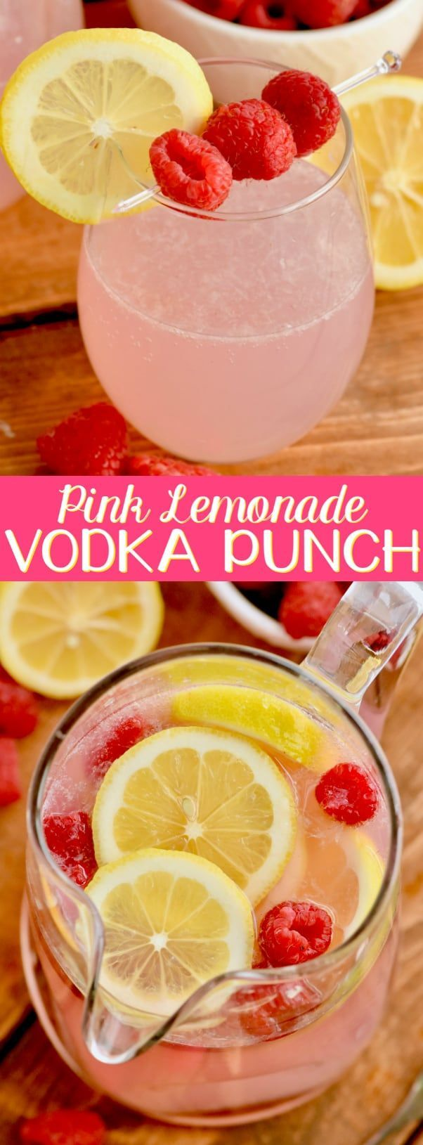 This Pink Lemonade Vodka Punch recipe is only three ingredients!! It is so easy and perfect for a party! #pinklemonade This Pink Lemonade Vodka Punch recipe is only three ingredients!! It is so easy and perfect for a party! #vodkapunch