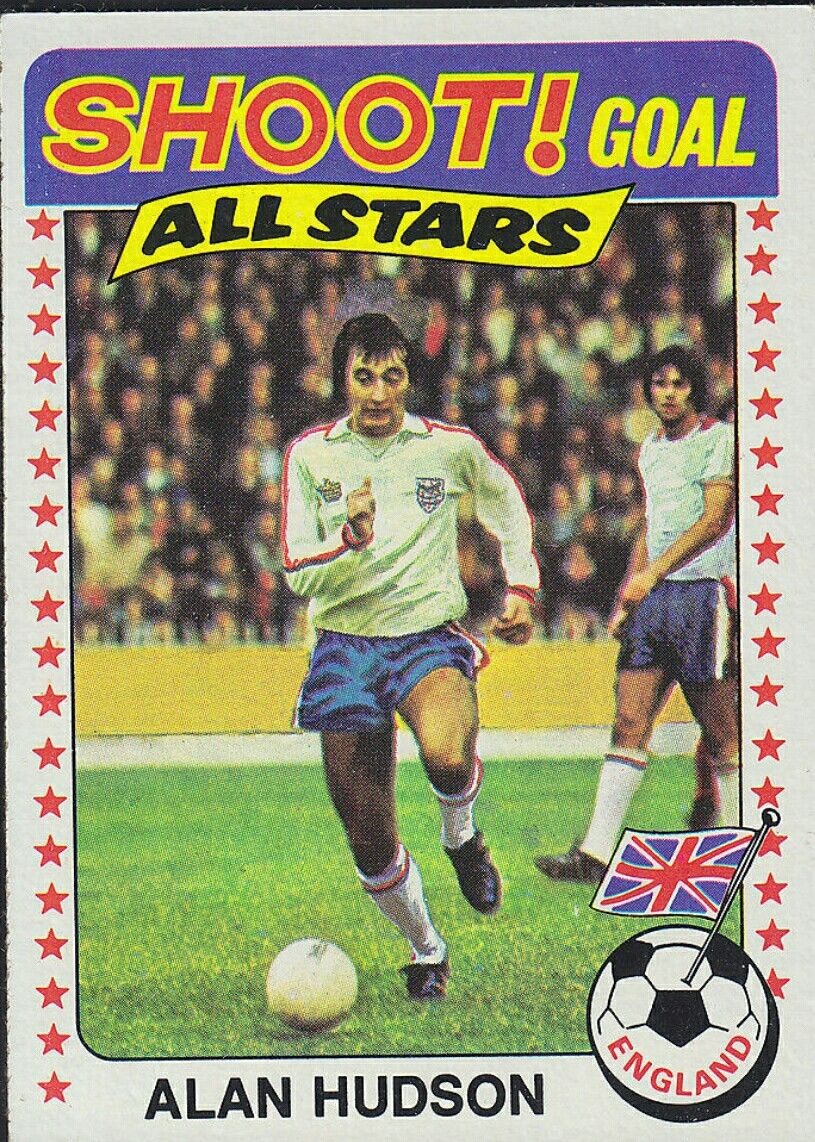 Leicester Vintage 1975 Topps Football Cards