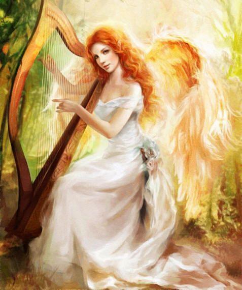 красивый ангел | Картинки ангелов, Ангел, Рисунки