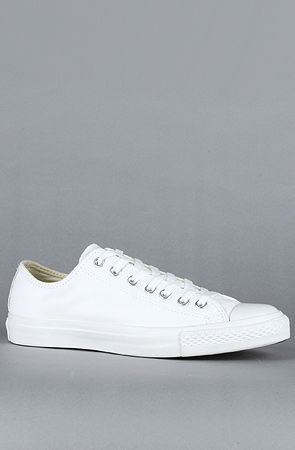 87eb686a25a9 Converse The Chuck Taylor All Star Leather Ox Sneaker in White Monochrome