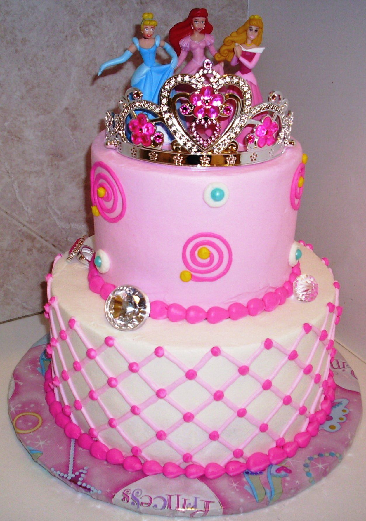 2 Tier Cake Disney Princess Pink Baby Google Search