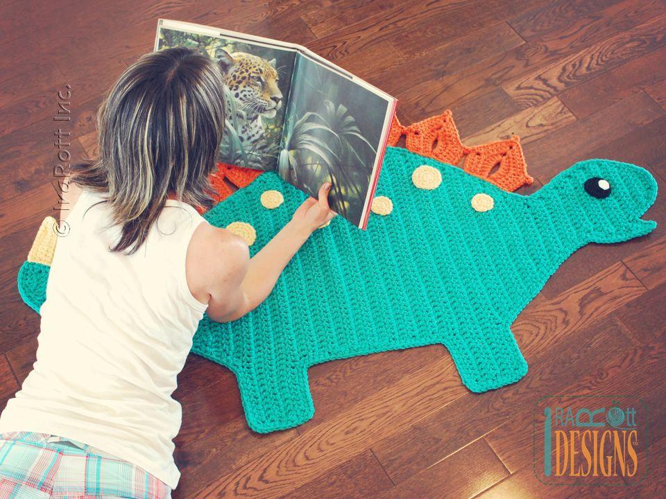 Spiky the Stegosaurus Dino Rug PDF Crochet Pattern | Häkeln ...