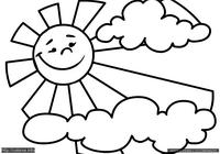 Солнце - скачать и распечатать раскраску. Раскраска ...