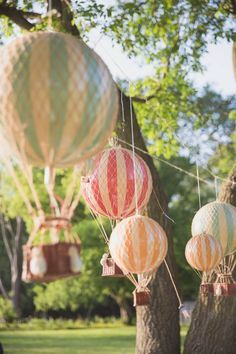Heißluftballon Up Up & Away Erste Geburtstagsfeier