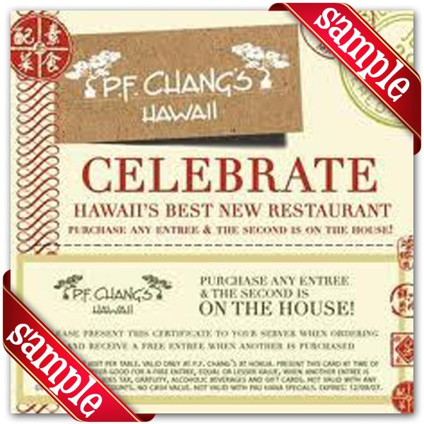 image relating to Pf Changs Printable Coupon called P.F. Changs Printable Coupon December 2016 Discount codes For