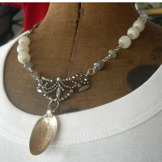 Vintage Assemblage Necklace  Los Angeles  Sterling by Marsha Goldblatt, Vintagearts $65.00
