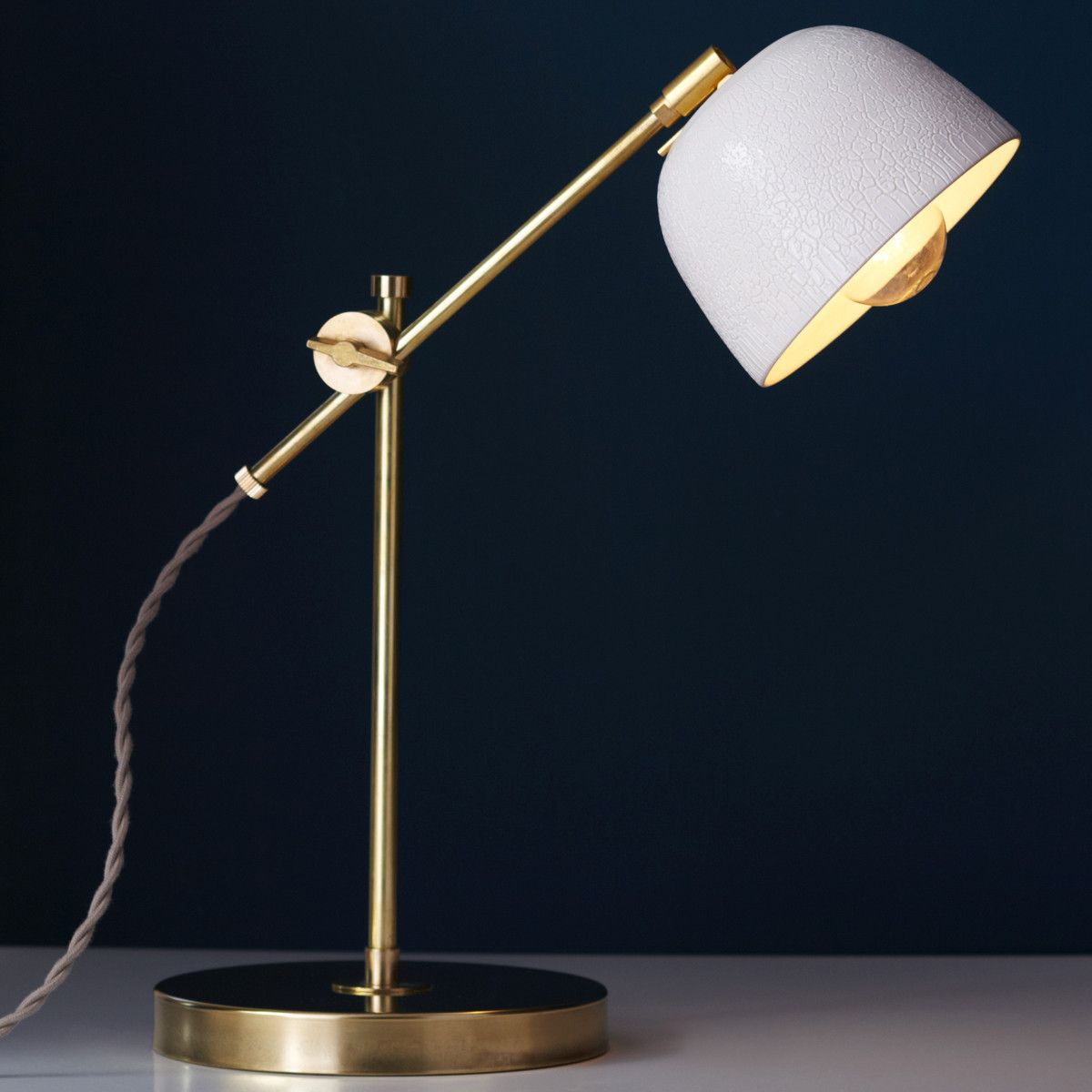 Awesome Brass Swivel Task Lamp
