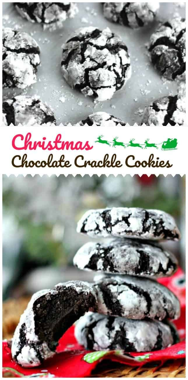 Christmas Chocolate Crackle Cookies – The Baking ChocolaTess