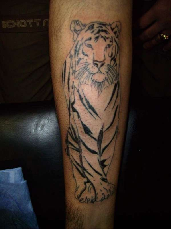 Tattoo Tatouage Tigre Blanc De Style Japonais Photo Tatouage Tigre