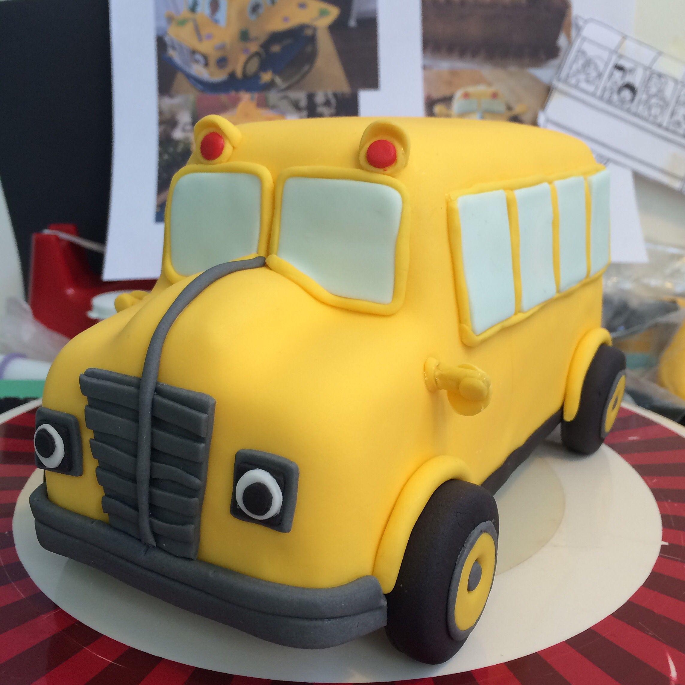 School Bus Party, School Bus Cake