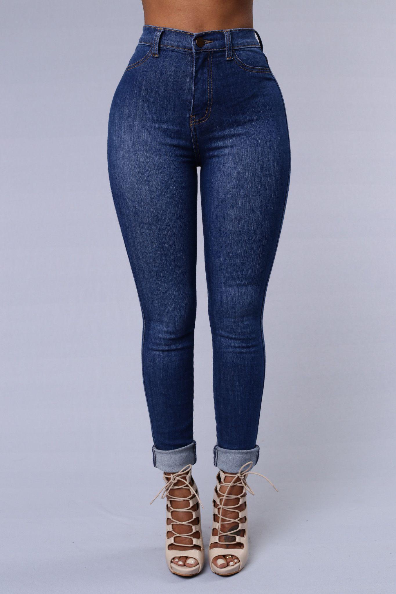a9b4fbfe62 Modern High Rise Skinny Jeans - Medium Blue