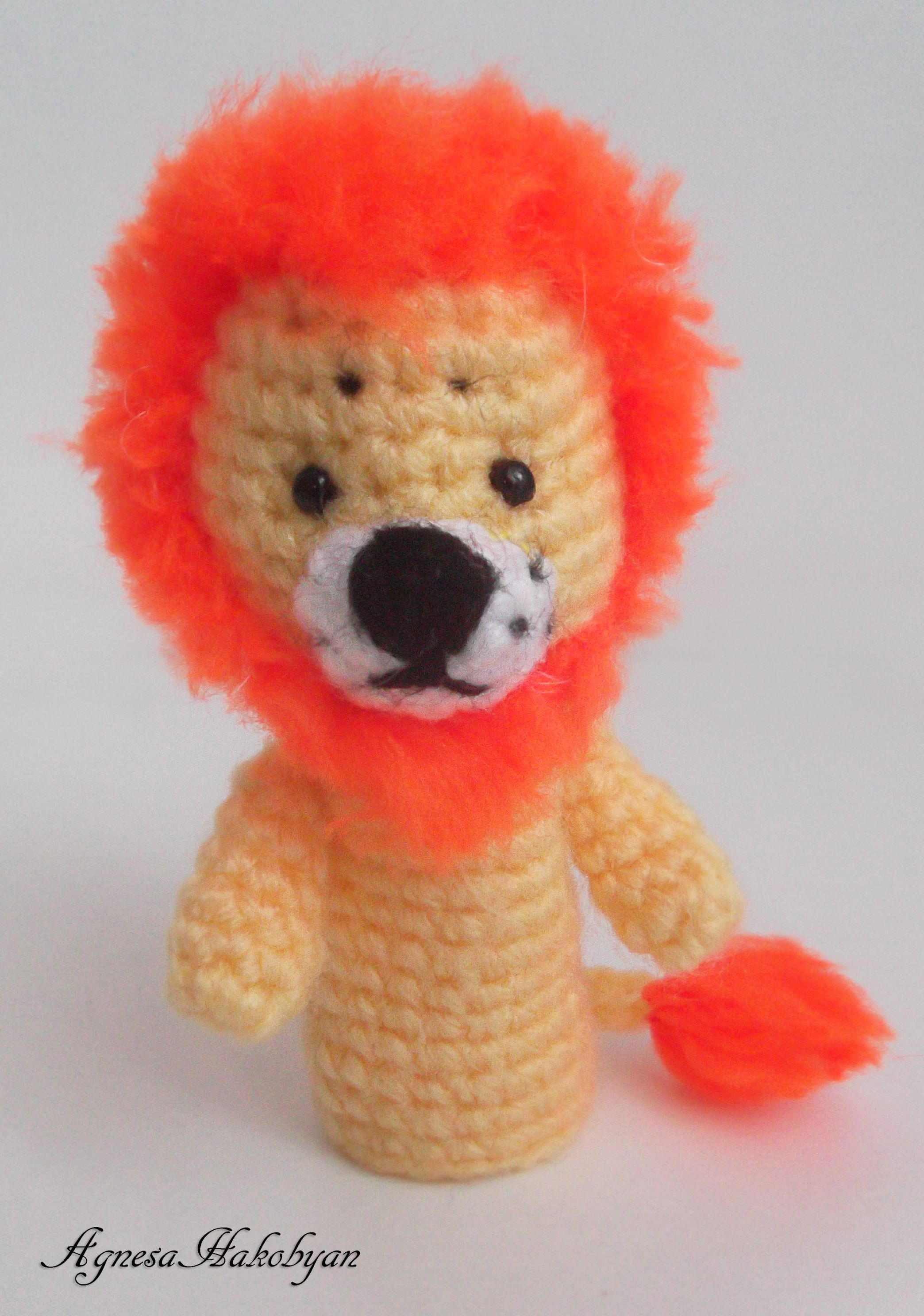 Lion finger puppet   Finger Puppets   Амигуруми и Игрушки
