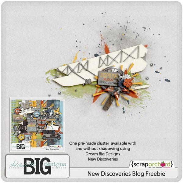 Scrapbooking TammyTags -- TT - Designer - Dream Big Designs,  TT - Item - Element, TT - Style - Cluster