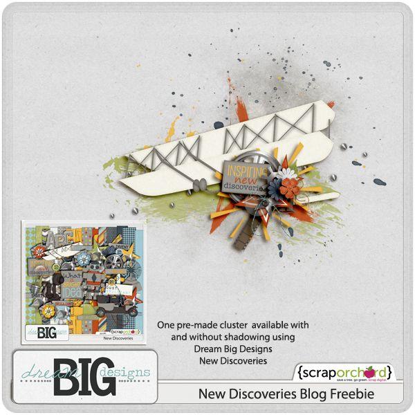 Scrapbooking TammyTags -- TT - Designer - Dream Big Designs,  TT - Item - Element, TT - Style - Cluster
