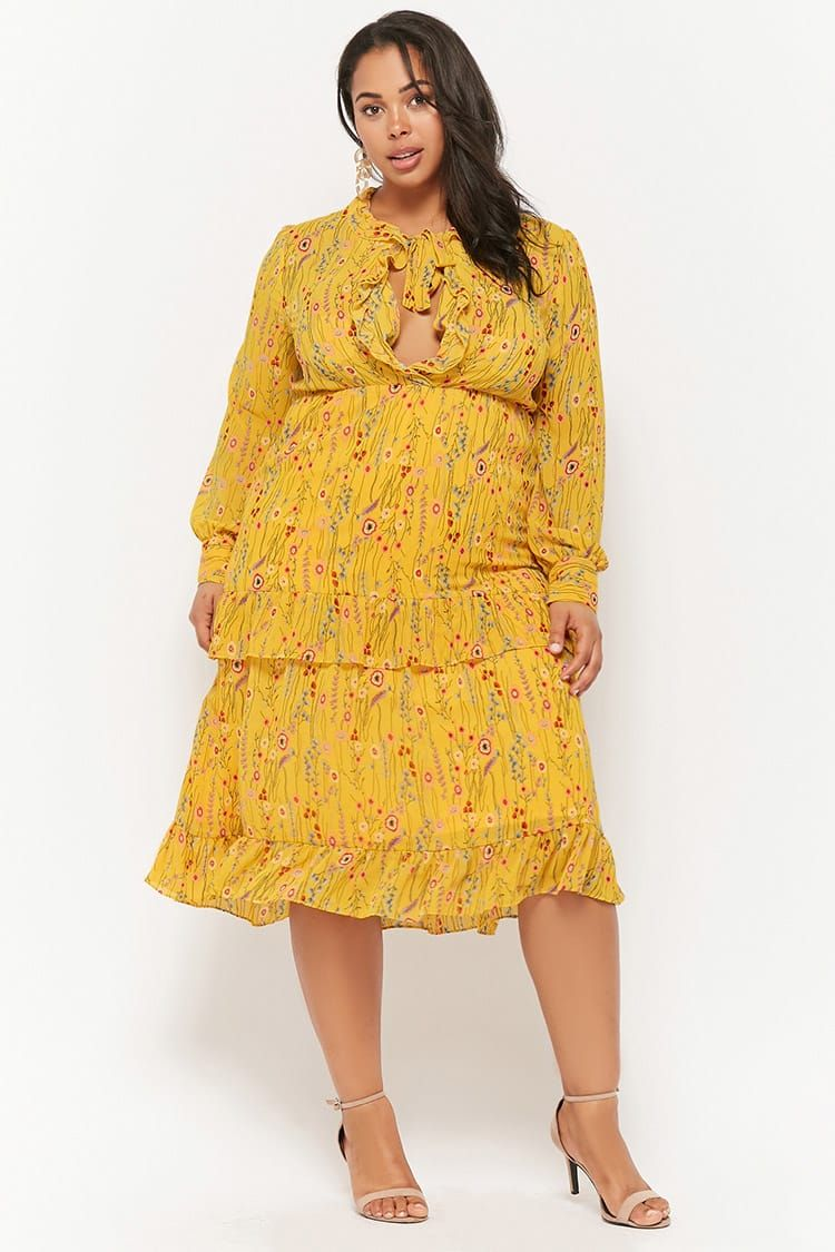 Plus Size Floral Dress Plus Size Fashion Pinterest