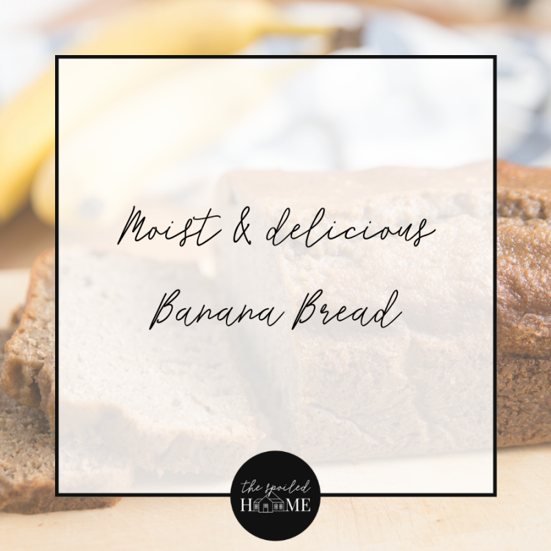 I discovered this delicious recipe for banana bread from Tory Burch. Since I had bananas going bad, I decided to give it a try. It is the quintessential comfort food and perfect for quarantine cooking.… The post Moist & Delicious Banana Bread Recipe appeared first on The Spoiled Home.
