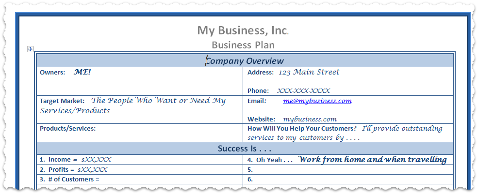 Want A Free Business Plan Template Try My Simple Plan  Easy To