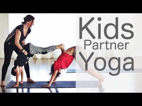 3 minute kids partner yoga with lesley indy and stone