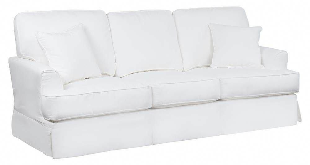 Slipcovered Sleeper Sofa Performance Fabric White Id 3789064 White Sofa Ideas Of White Sofa Whitesofa Sofa In 2020 Sofa Best Leather Sofa White Sectional Sofa