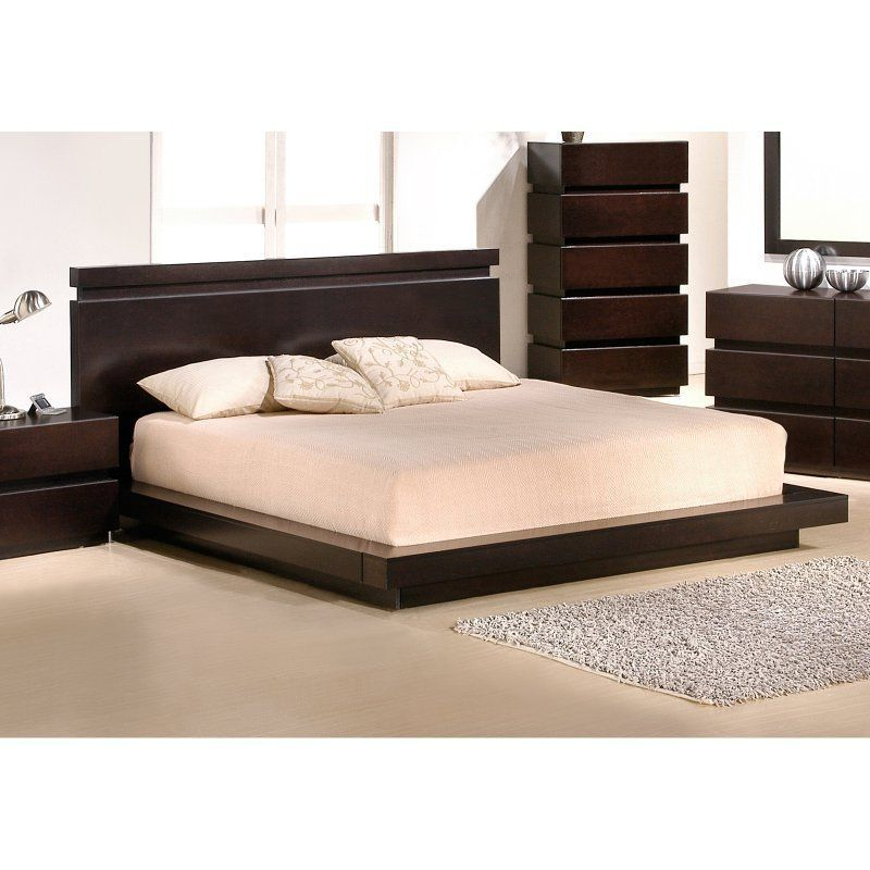 J M Furniture Knotch Platform Bed Size King 1754426 K