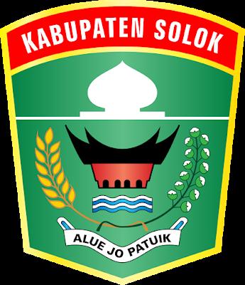 Lambang Kabupaten Solok Sumatera Barat Indie Adobe Illustrator Kembar
